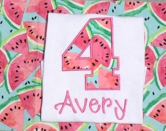 Watermelon birthday shirt, watermelon birthday, birthday shirt, watermelon birthday party, 1,2,3,4,5,6,7,8, watermelon birthday outfit