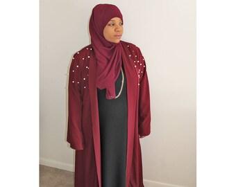 Pearl Open Abaya
