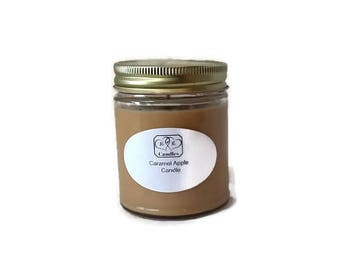 Soy Wax Candle Caramel Apple Scented
