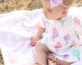 Cotton Candy Dress // Baby Girl Dress // Toddler Girl Dress // Summer Dress // Play Dress // Organic Dress // Baby Girl