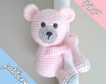 Teddy curtain tie back crochet pattern PDF instant download PATTERN