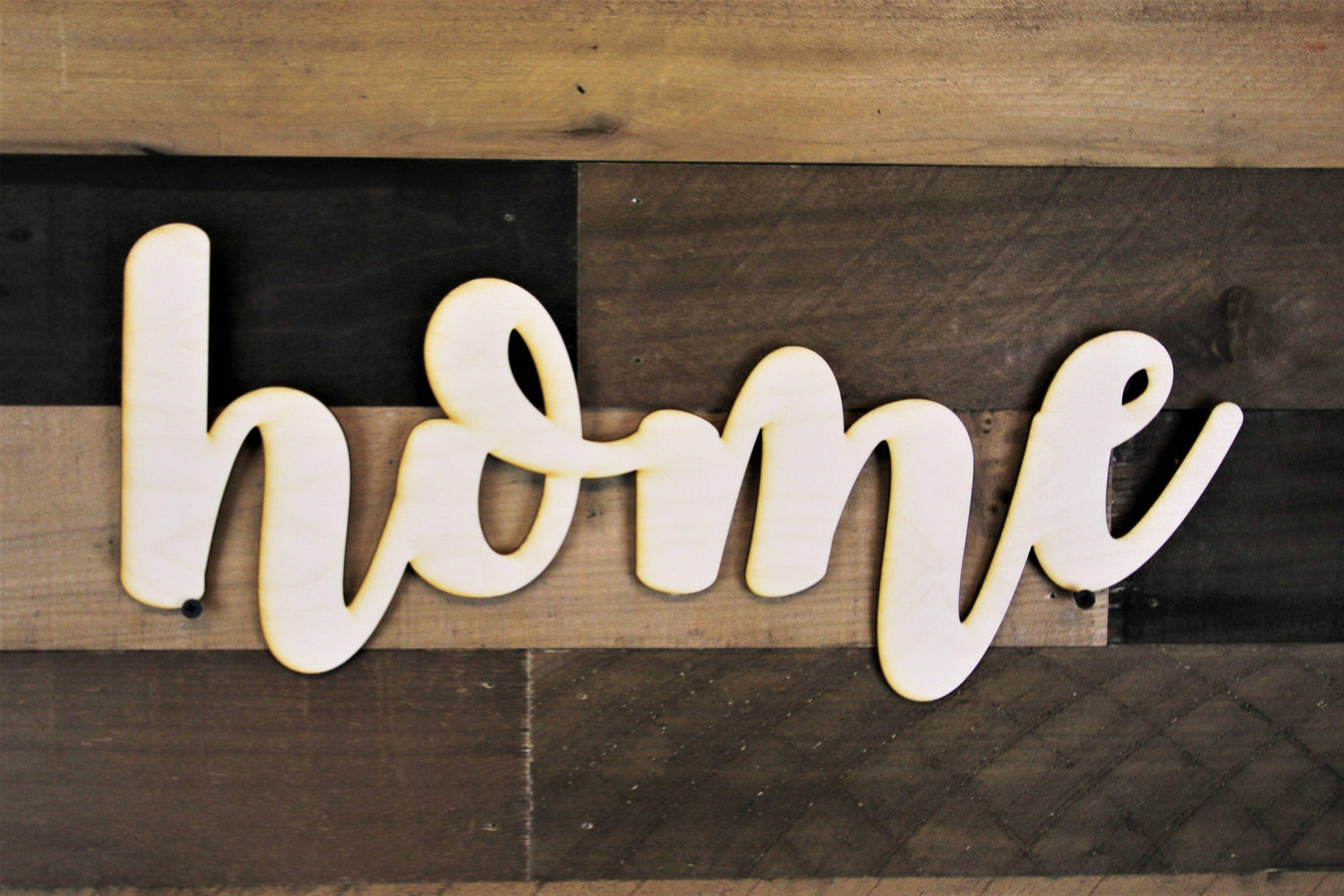 Home cutout sign home script sign 3d home wood sign home for House lettering script