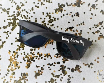 Ring Security Sunglasses- Wedding Favor- Ring Bearer- Ring Security- Wedding Decor- Wedding Party