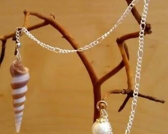 Seashell Dowsing Pendulum & Muslin Pouch