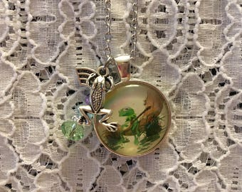 Kermit the Frog Charm Necklace/Kermit the Frog/Kermit the Frog Jewelry/Kermit the Frog Pendant/Frog Jewelry/Frog Pendant/Frog Necklace