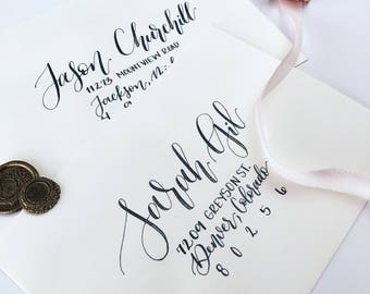 Custom Wedding Envelope Calligraphy, Hand Lettered Envelope Addressing, Modern Calligraphy Addresing