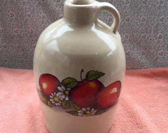 Shakers u0026 Thangs Pottery Marshall Texas Apples Stoneware Jug 11  Tall & Marshall pottery | Etsy