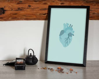 Frozen Heart - Nursery/Bedroom Printable Poster/Wall Art