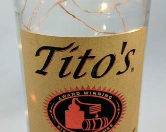 Upcycled Tito's Vodka Bottle Accent Light by Libation Lumination/Swanky Things