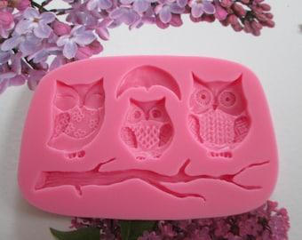 Silicone mold food OWL theme