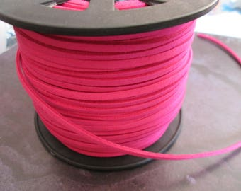 1 meter of 3mm fuchsia suede cord