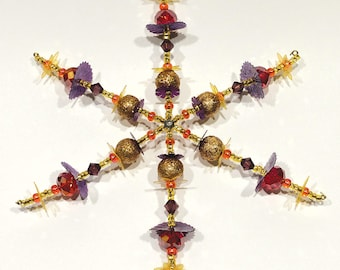 Beaded Snowflake Ornament No.3