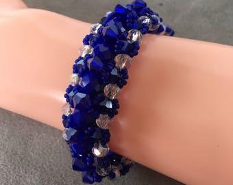 Royal blue beaded bracelet