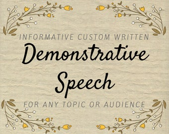 Demonstrative Speech - Informative Speech Writer - Informational Presentation Copy Writing Service How To Demonstration Lecture Writing Help