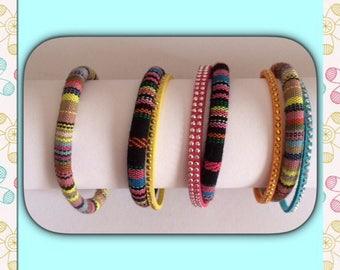 Women ethnic cord bracelets.