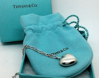 Tiffany & Co silver //collier 925 //code promo / / cllier silver heart / / heart necklace //bride// promotion code / / something special