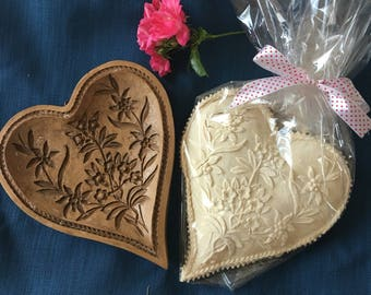 Springerle Cookie - Traditional German Specialty Anise Heart Shaped Cookie Biscuit Old World Style Made to Order