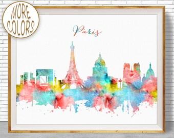 Paris Decor, Paris Print, Paris Skyline, Paris France, Paris Poster, Paris Art Print, Paris Wall Art, Office Poster, ArtPrintZone