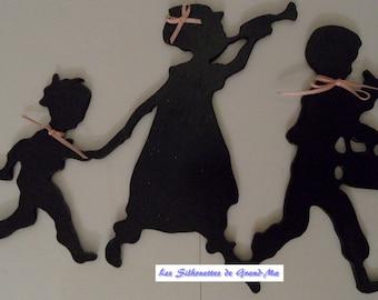 Musician trio, wooden wall decoration