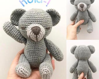 Crochet Teddy, Crochet bear, Teddy Stuffed Animal, Amigurumi Bear, made to order