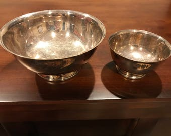 Two Gorham Silver Bowls, YC778 and YC780