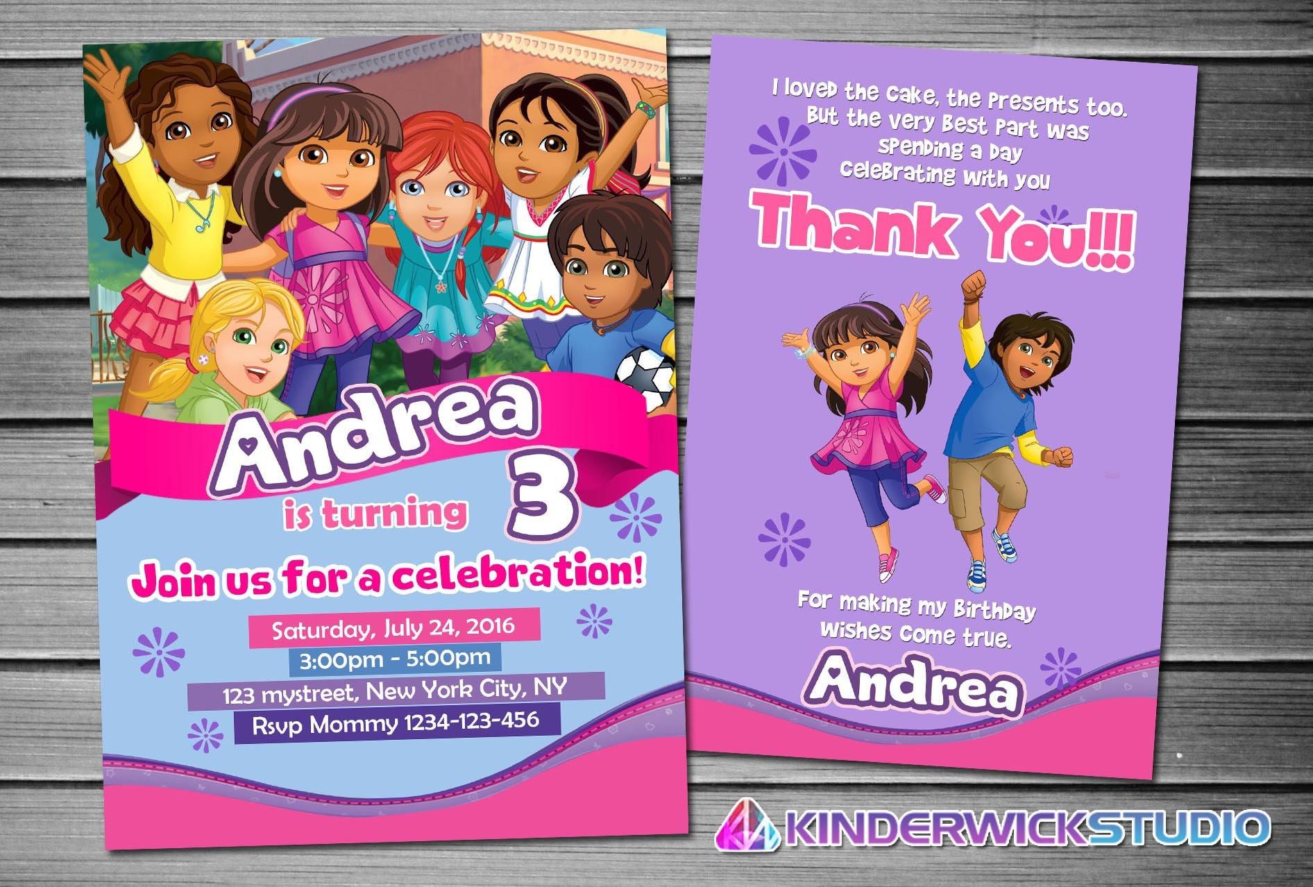 Dora Invitation Dora Birthday Dora Party Dora Invites Dora – Dora Party Invites