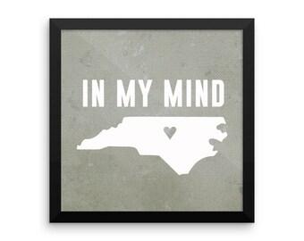 In My Mind framed poster
