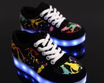 Charging kid Shoes Glowing Sneakers LED slippers do with Light up girls shoes infant by DoraBoutique