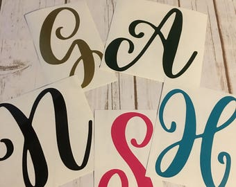 Single Letter Decal - Letter Monogram Decal - Letter monogram -single letter -  vinyl decal - tumbler decal - YETI decal