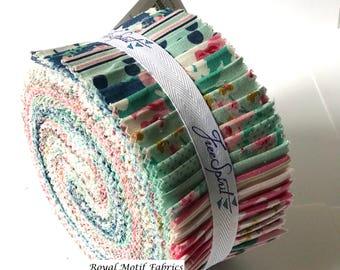 "Free Spirit Fabrics - Gazebo Design Roll /Jelly Roll by Tanya Whelan - 40, 2.5"" x 42"" Precut Fabric Strips - 100% Cotton"