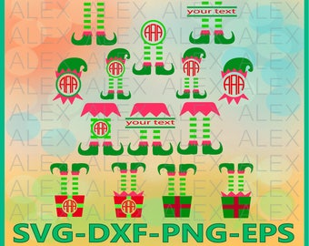 70% OFF, Elf Monogram SVG, Christmas Monogram Frame, Elf png, eps, svg, dxf, Elf Clipart, Christmas Elf Monogram Frame, Elf svg Cut File
