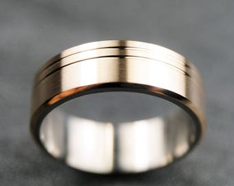 Stainless Steel/Bronze Ring Wedding Band