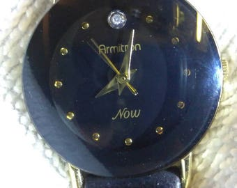 Ladies vintage Armitron Now watch with diamond accent. Like new condition.