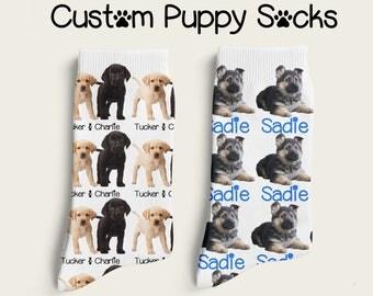 Custom Socks, Puppy Socks, Dog Socks, Selfie Socks, Personalized Socks, Custom Printed Socks, Dogs, Puppies, Athletic Socks, Size Medium