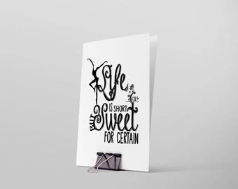 """Dave Matthews: Two Step - """"Life is short but sweet for certain"""" Greeting Card"""