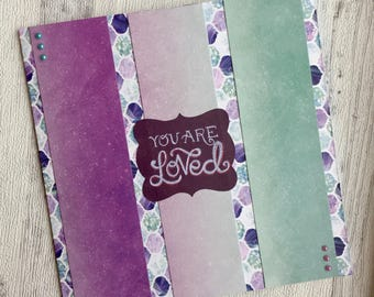 You are loved Love card for her Anniversary card