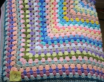 hand made retro granny blanket