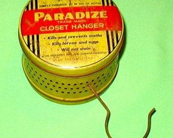 Moth ball tin can closet hander can vintage original Paradize brand