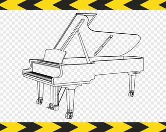 Piano Vectors Svg files Clipart Printable art Commercial use Dxf Pdf Png