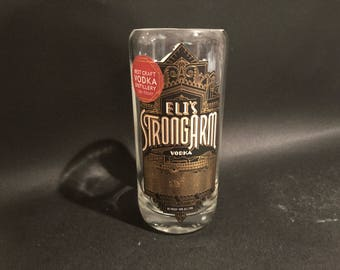 HANDCRAFTED Candle UP-CYCLED 750ml Tom's Town Eli's Strongarm Vodka Bottle Soy Candle. Made To Order !!!!!