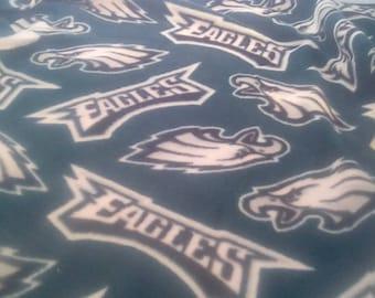 Philadelphia Eagles Fleece Baby or Lap Blanket Custom Sized
