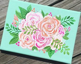 Floral canvas / summer prints / flowers