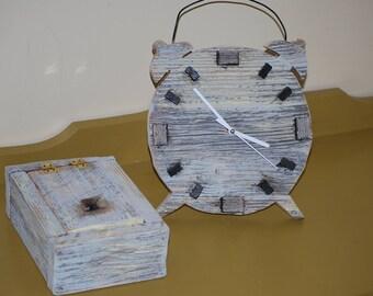 Dial and set box storage /wood reclaimed barn wood / barnwood