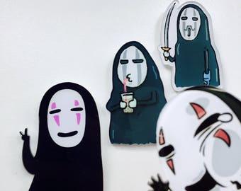 Ghibli Pins | Funny No-Face Pin