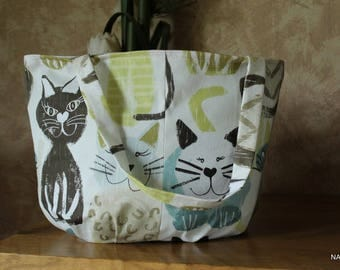 Bag blue and green cats (S-033)