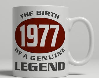 Legend 40th Birthday mug, 40th birthday idea, born 1977 birthday, 40th birthday gift, 40 years old, Happy Birthday, EB 1977 Legend