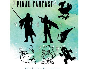 Final fantasy decals, car decal sticker, mug decal Decal Only!