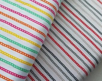 Chains Multi Color-Onyx or Orange Fabric