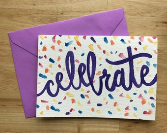 Celebrate! - Watercolor Card