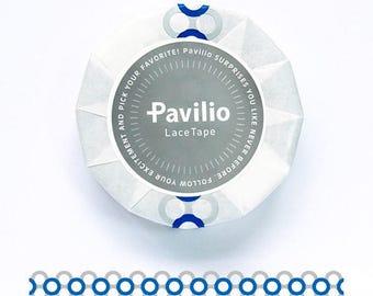 Japanese Pavilio lace tape Rotala pink / Wa blue 15mm x 10m